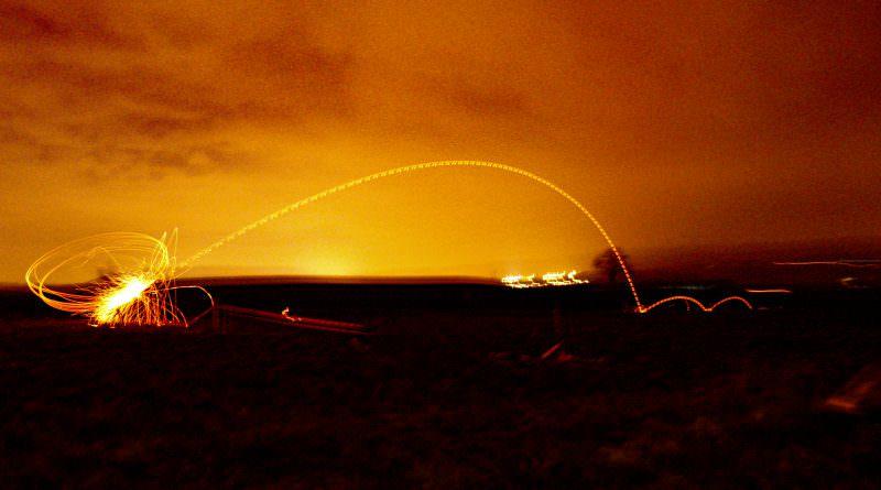 Lancer de disque enflammé